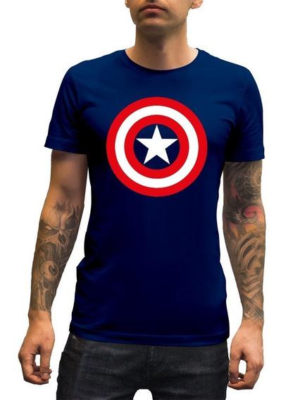Playera Hombre Capitan America Mod-1