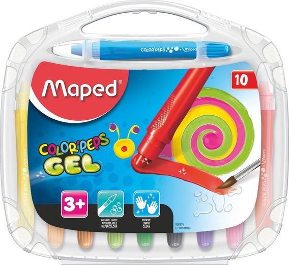 Crayones Gel Maped Colorpeps X10 Educando