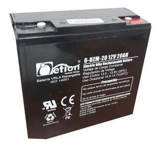 Bateria 12v 20ah Moto Bicicleta Electrica 6-dzm-20 Netion
