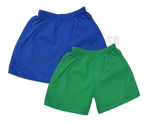 Pack X 2 Shorts 100% Algodon Bebe Niños  0-4 Años Pantalon