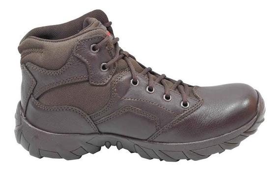 Zapatos Hombre Piel Estilo Bota Café 25-1503 Duty Gear