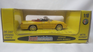 Alfa Romeo 2.0 Spider 1992 Jouef Miniatura 1/18 Na Caixa