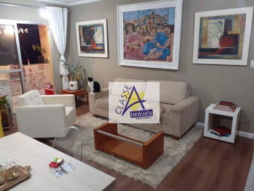 Apartamento Com 3 Dormitórios À Venda, 78 M² Por R$ 295.000,00 - Vila Bocaina - Mauá/sp - Ap0739