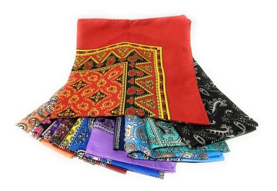 100 Paliacates Pañuelos Estampados Colores Variados