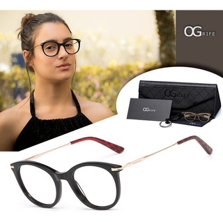 Armação Oculos Ogrife Og 775-c Feminino Com Lente Sem Grau