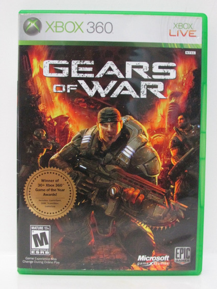 Gears Of War - Game Xbox 360 Original Completo Mídia Física