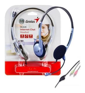 Auriculares Genius Hs-02b Vincha Microfono Control Volumen