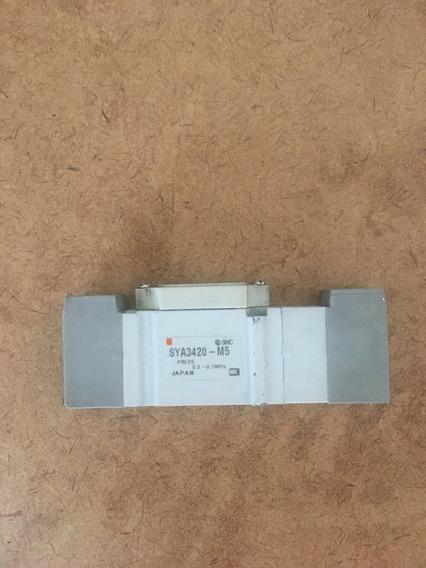 Válvula Pneumática Pilotada Smc - 5 Portas- Sya3420-m5