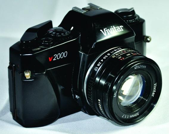 Câmera Fotogr Vivitar V2000 Antig Analógica Original Decora