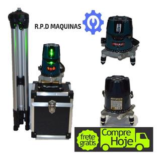 Nível Á Laser Visibilidade 5 Linhas C/ Bateria Recarregavel