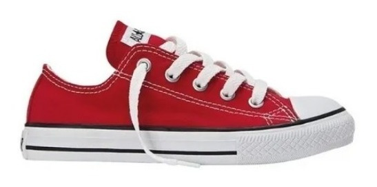 Zapatillas Converse All Star Niños 27 Al 34 356993c Rojo