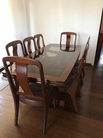 Conj Mesa E 8 Cadeiras De Jantar