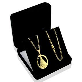 Cordao Masculino Banhado Ouro 60cm 2mm E Pingente Ts106
