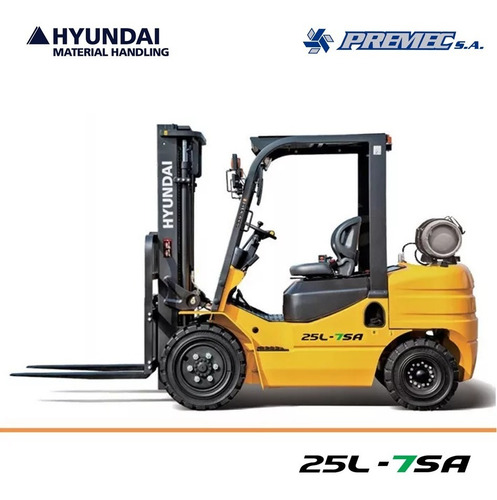 Autoelevador Hyundai Premec 2500 Kg Nafta Gas Nuevo 0 Km