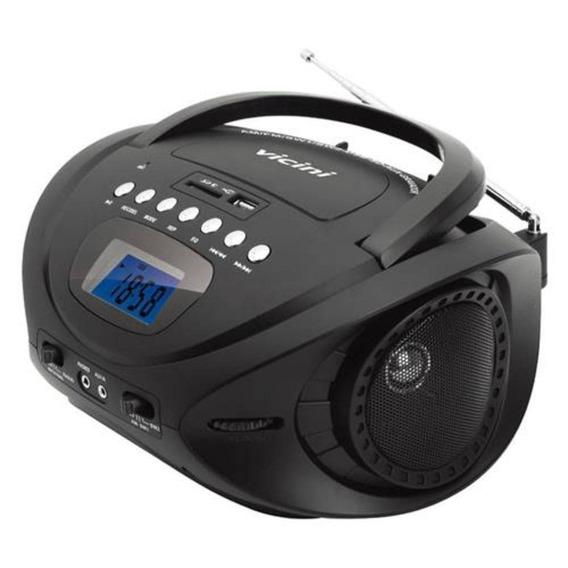 Rádio Portátil Vicini Am Fm Mp3 Com Entrada Usb E Auxiliar