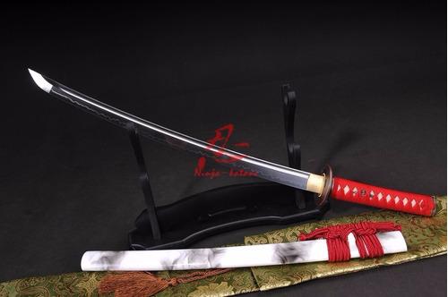 Imagem 1 de 9 de Wakizashi Espada Samurai Curta Aço T10 Forjada Original