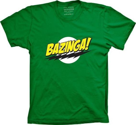 Camiseta Feminina Baby Look Bazinga Big Bang Theory Cores
