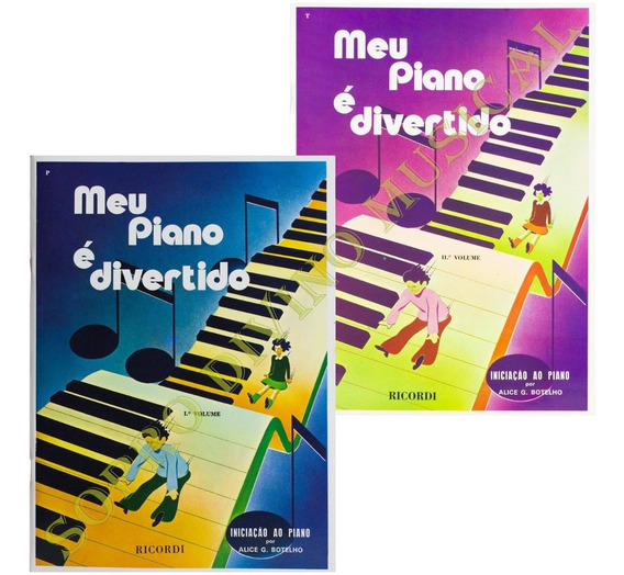 Kit Métodos Meu Piano É Divertido Vol. 1 E Vol.2