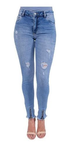 Imagem 1 de 7 de Calça Jeans Cigarrete Feminina Revanche Rita