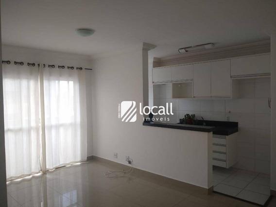 Apartamento Com 3 Dormitórios Para Alugar, 71 M² Por R$ 1.500/mês - Higienópolis - São José Do Rio Preto/sp - Ap1887