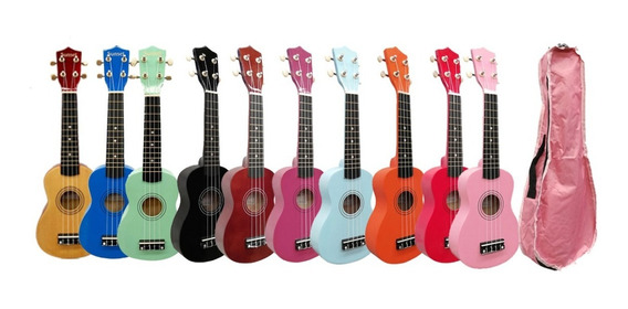 Ukelele Soprano Sunset Colores De Estudio Superior + Funda