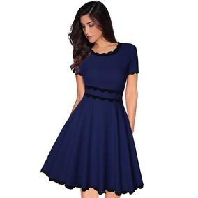 031f8266e Vestidos Rojos Cortos De Encaje - Vestidos de Mujer Casual Azul en ...