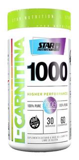L Carnitina Star Nutrition 60 Caps. Quemador De Grasa