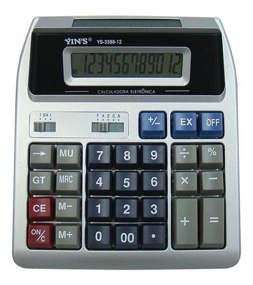 Calculadora Eletrônica 12 Dígitos C/ Display Duplo 18x15,5cm