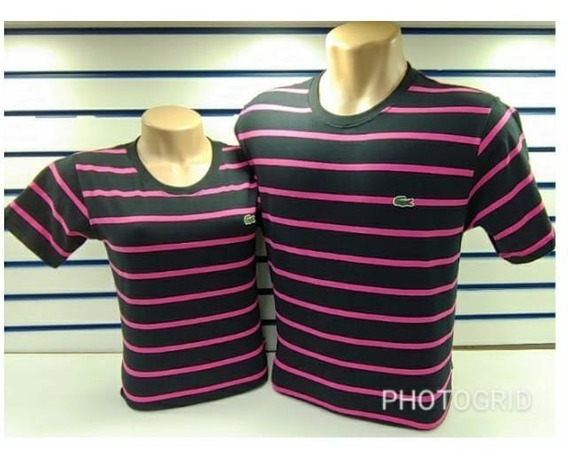 Kit Camiseta Feminina E Masculina Lacoste