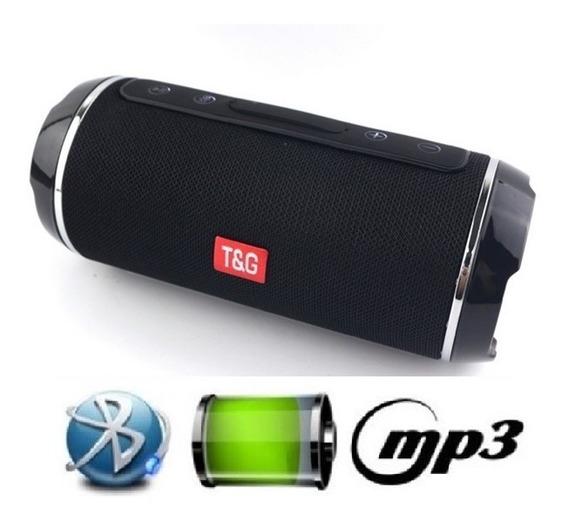 Caixa De Som Super Bass Bluetooth Cartão Sd Mp3 Usb P2 Preta