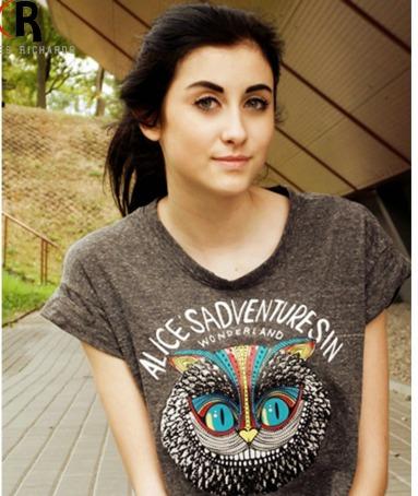 Blusa Camisa Importada Gato Alice Pronta Entrega