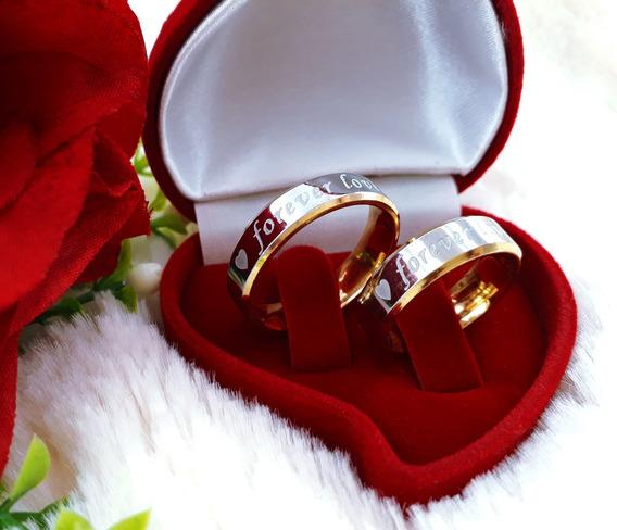 Par Aliança Namoro Noivado Compromisso Forever Love M607