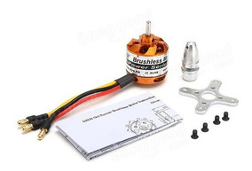 Motor Dys D2826/6 2200kv Outrunner C Spinner E Montante
