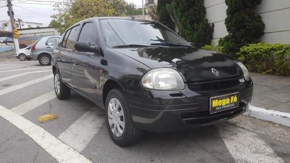 Renault Clio Sedan Rn 1.0 16v 4p 2003 Preto Completo