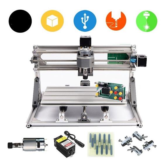 Maquina Cnc 3018 + Laser 500mw 0.5w Corte Grabado Usb 30x18