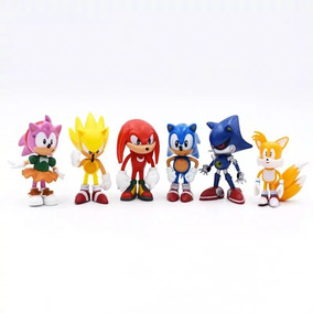 Kit Sonic The Hedgehog - 6 Bonecos - Sem Manchas Na Pintura