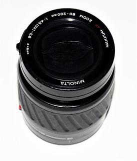 Tele Foto Minolta Original-distanci Focal-80~200mm-1:4.5-(22