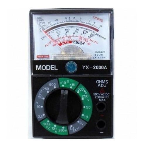 Multimetro Analógico 2kohm/volt Yx2000
