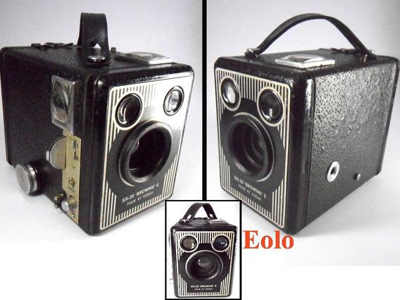 Kodak Six 20 E 1947 Uk Camera Box Funciona Coleção &