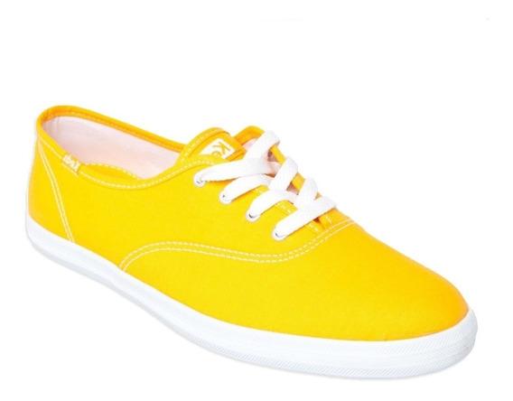 Tênis Feminino Keds Champion Amarelo Original Modelo Novo