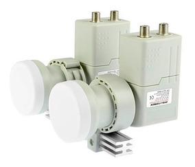 Lnb Carona 2x2 Haste Aluminio 4 Saídas Duplo Receptor