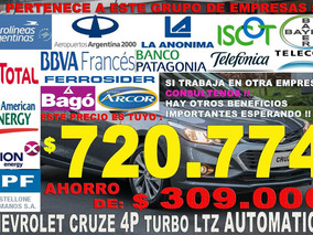 Chevrolet Cruze Automatico Ltz 4 Puertas Venta Empleados