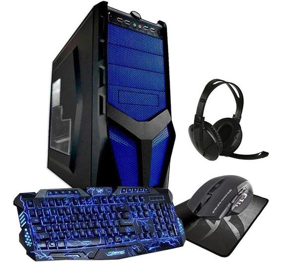 Kit Pc Gamer Quadcore 8gb Ram Hd 1tb Geforce + Acessórios