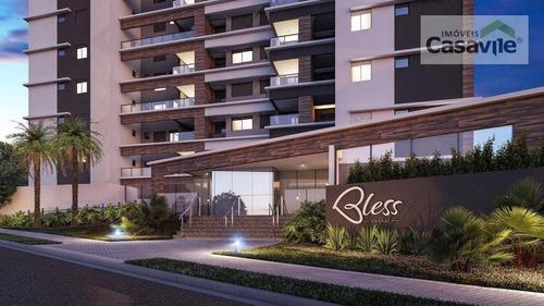 Apartamento Com 3 Dormitórios À Venda, 99 M² Por R$ 704.428,00 - Cabral - Curitiba/pr - Ap0443