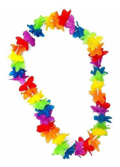 Set De 12 Collares Hawaianos Para Fiesta