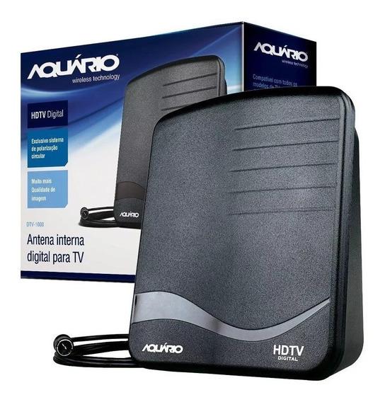 Antena Tv Digital Hdtv Interna 4 Em 1 Aquário - Dtv-1000