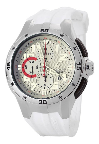 Relógio De Pulso Chronotech Active 800 - Aço/borracha Branca