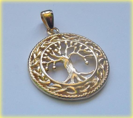 Pingente Celta Tree Of Life Refined Árvore Vida- Prata Ouro