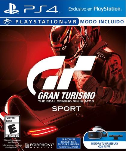 Gran Turismo Sport 2018 Fisico Playstation 4 Ps4 Soporta Vr