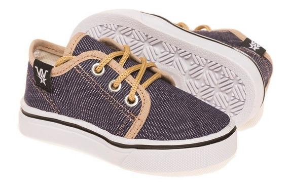 Zapatillas De Jean Azul Para Bebes, Talles Del 17 Al 26